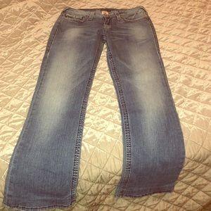 True Religion Boot Cut Denim Jeans Size 31